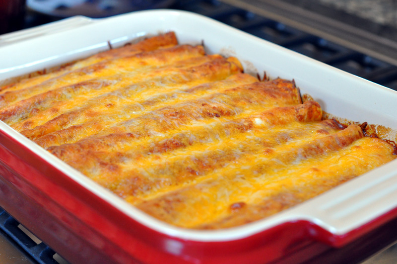 Chicken Enchilada Casserole and Mexican Rice (a food and photo ...