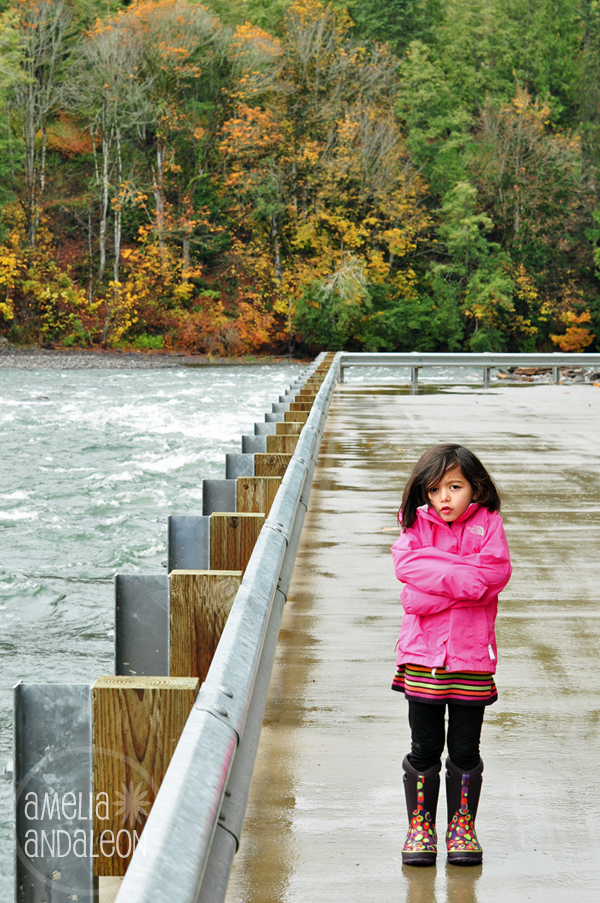 Nora shivering at the Elwha