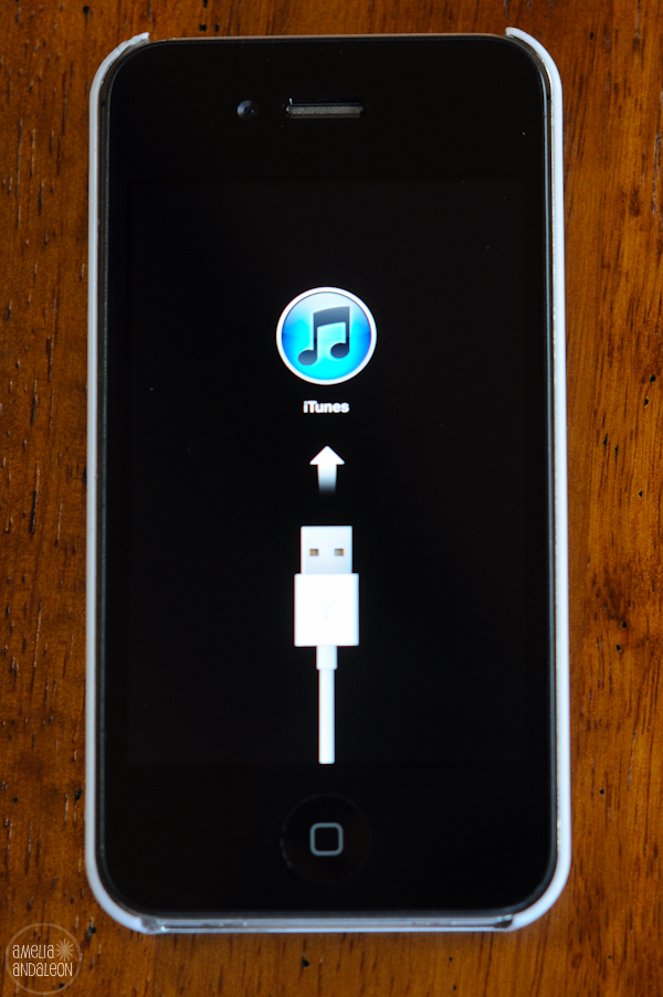 How I fixed my frozen iPhone 4s (display stuck with USB icon
