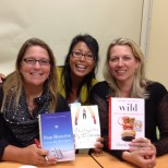 Pam Houston, me, and Cheryl Strayed (Port Angeles Public Library) - July 2012